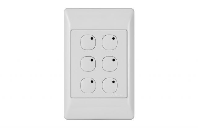 Leviton Omni-Bus 6-Button Wall Switch