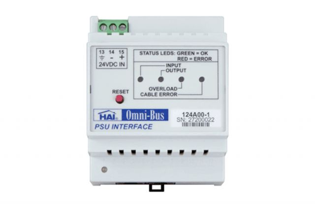 Leviton Omni-Bus P/Supply Interface 2A Din Rail