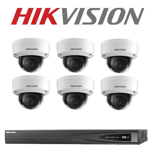 6MP 8CH Hikvision CCTV Kit: 6 x IP Dome Cameras + 8CH NVR