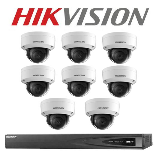 6MP 8CH Hikvision CCTV Kit: 8 x IP Dome Cameras + 8CH NVR