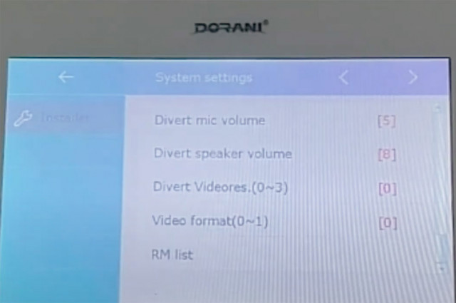 Setup the Diversion Video Quality on the Dorani Touch