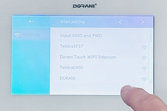 Setup WiFi diversion on a smartphone for a Dorani Touch